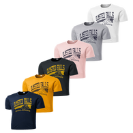 Bulldog Distressed Performance Tee - Navy,Iron Grey,Charcoal,Pink,Silver,White