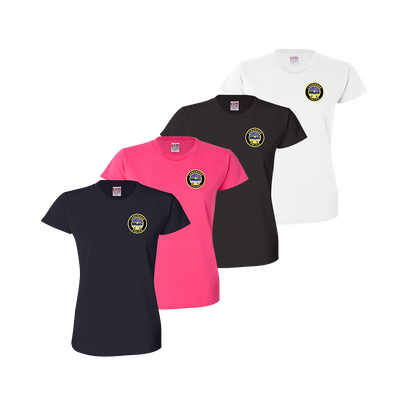 LPD Ladies Tee - Navy,Bright Pink,Black,White