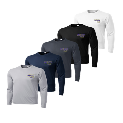 LPD Long Sleeve Dry Fit Tee - Silver,Navy,Iron Grey,Black,White