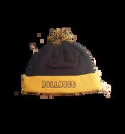 Bulldogs Knit Hat with Pom-Pom - Gold/Navy