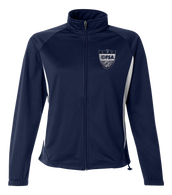 OFSA Ladies Warm Up Jacket - Navy/White