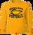 Bulldog Football LS Tee - Gold