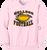 Bulldog Football Crewneck - Pale Pink