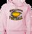 Bulldog Football Hoody - Pale Pink
