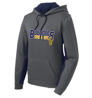 Bulldogs Swim & Dive Ladies Colorblock Performance Hoody (F081)