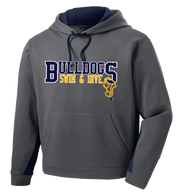 Bulldogs Swim & Dive Colorblock Performance Hoody (F081)