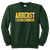 Amherst Indoor Track & Field Crewneck - Dark Green