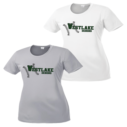 Westlake Baseball Ladies Performance Tee