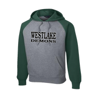 Westlake Baseball Raglan Hooded Sweatshirt (F101)