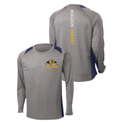 Olmsted Falls Hockey Colorblock Performance Tee LS