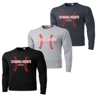 Cuyahoga Heights Softball Performance LS Tee (F115)