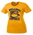 Bulldog Youth Football Ladies Performance Tee - Gold