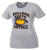 Bulldog Youth Football Ladies Performance Tee - Silver