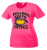 Bulldog Youth Football Ladies Performance Tee - Neon Pink