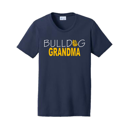 Bulldog Grandma Ladies Tee