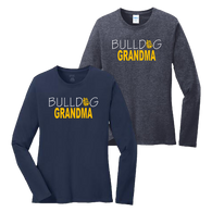 Bulldog Grandma Ladies LS Tee