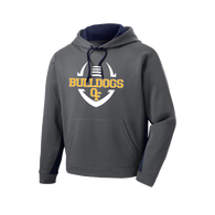 Bulldog Football Colorblock Performance Hoody