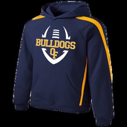 Bulldog Football Colorblock Hoody