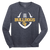 Bulldog Football LS Tee - Heathered Navy