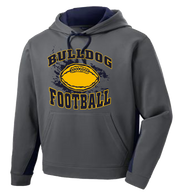 Bulldog Football Colorblock Hoody