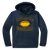 Bulldog Football Performance Hoody - Navy