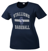 2017 Stallions Ladies Performance Tee  (F141)