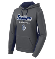 Stallions Ladies Colorblock Performance Hoodie