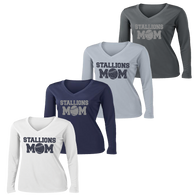 2017 Stallions Mom Ladies Performance LS Tee  (F143/F156)
