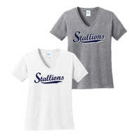 Stallions Ladies V-Neck Tee