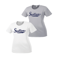 Stallions Ladies Performance Tee