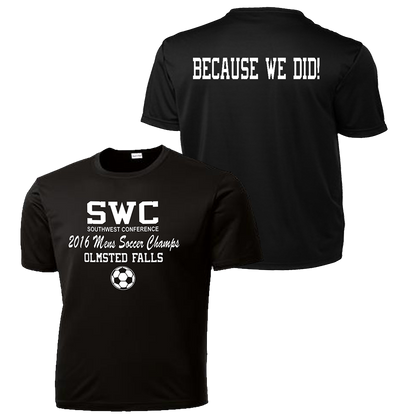 OFHS Mens Soccer SWC Champion Performance Tee