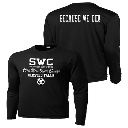 OFHS Mens Soccer SWC Champion Performance LS Tee