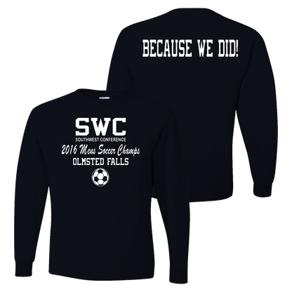 OFHS Mens Soccer SWC Champion LS Tee