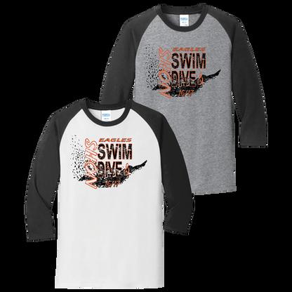 NOHS Swim & Dive 3/4 Raglan Tee