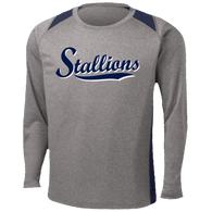 2017 Stallions Colorblock Performance LS Tee (F145)