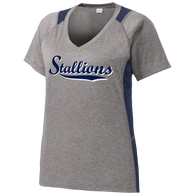 2017 Stallions Ladies Colorblock Performance Tee (F145)