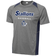 2017 Stallions Colorblock Performance Tee (F142)
