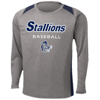 2017 Stallions Colorblock Performance LS Tee (F142)