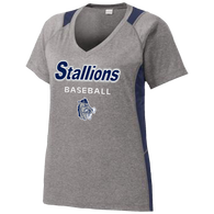 2017 Stallions Ladies Colorblock Performance Tee (F142)