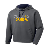 Bulldog Grandpa Colorblock Performance Hoodie (F130)