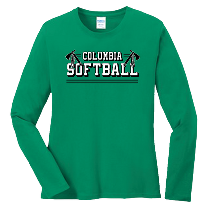 Columbia Softball Ladies LS Tee