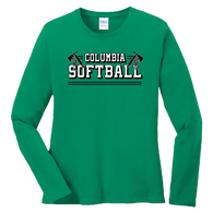 Columbia Softball Ladies LS Tee