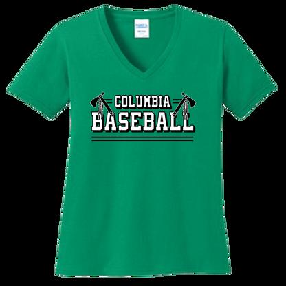 Columbia Baseball Ladies V-Neck Tee