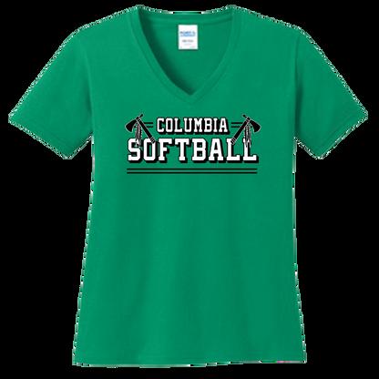 Columbia Softball Ladies V-Neck Tee