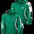 Columbia Youth Football Anorak Jacket - Kelly Green/White - Black/White Logo