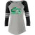 Columbia Youth Cheer Ladies Loyalty LS Tee - Athletic Heather/Black Sparkle/White