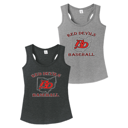 Red Devils Baseball Ladies Perfect Tank