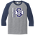 Stallions 3/4 Sleeve Raglan Tee - Athletic Heather/Navy