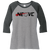NEO Volleyball Clue Perfect 3/4 Sleeve Raglan Tee - Black Frost/Grey Frost