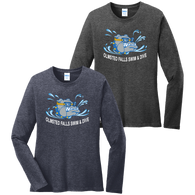 Bulldogs Swim & Dive Ladies Heathered LS Tee
